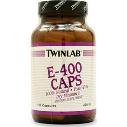 TWINLAB E-400 - Dry 100 caps