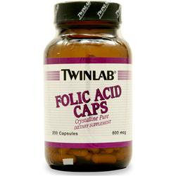 TWINLAB Folic Acid (800mcg) 200 caps