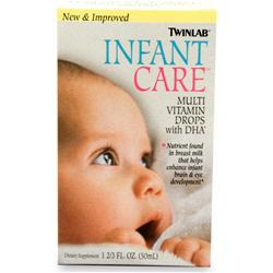 TWINLAB Infant Care Multivitamin Drops Best by 8/14 1.67 fl.oz