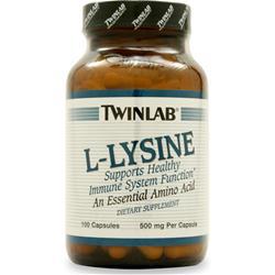 TWINLAB L-Lysine (500mg) 100 caps