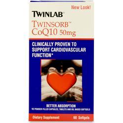 TwinLab TwinSorb CoQ10 (50mg) 60 sgels