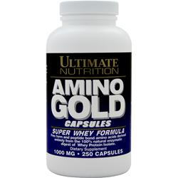 ULTIMATE NUTRITION Amino Gold (1000mg) Super Whey Formula 250 caps
