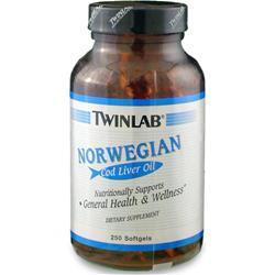 TwinLab Norweigian Cod Liver Oil 250 sgels