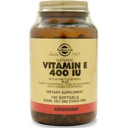 Solgar Vitamin E-400 100 sgels