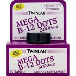TwinLab Mega B-12 Dots (5000mcg) 30 dots