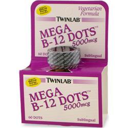 TwinLab Mega B-12 Dots (5000mcg) 60 dots