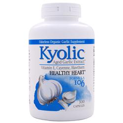 KYOLIC Garlic with Vitamin E, Cayenne, Hawthorn #106 300 caps