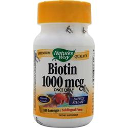 NATURE'S WAY Biotin (1000mcg) 100 lzngs