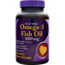 NATROL Omega-3 Fish Oil (1000mg) Lemon 60 sgels