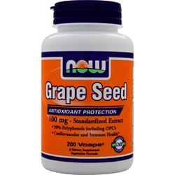 NOW Grape Seed Standardized Extract (100mg) 200 vcaps