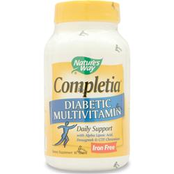 Nature's Way Completia Diabetic Multivitamin (iron free) 90 tabs