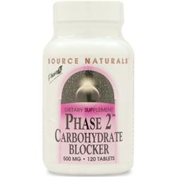SOURCE NATURALS Carbohydrate Blocker Phase 2 120 tabs