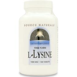 SOURCE NATURALS L-Lysine (1000mg) 100 tabs