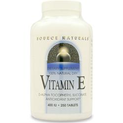 SOURCE NATURALS Vitamin E (400IU) 250 tabs