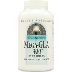 SOURCE NATURALS Mega-GLA 300 120 sgels