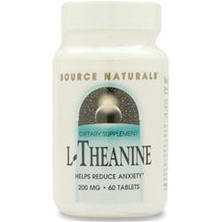 SOURCE NATURALS L-Theanine (200mg) 60 tabs