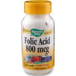 NATURE'S WAY Folic Acid 100 caps