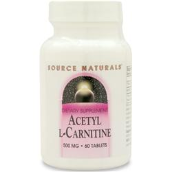 SOURCE NATURALS Acetyl L-Carnitine (500mg) 60 tabs