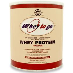 SOLGAR Whey To Go Natural Chocolate 41 oz