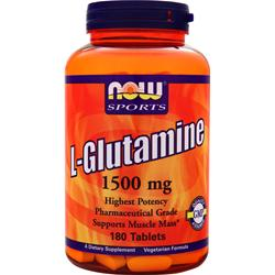 Now L-Glutamine (1500mg) 180 tabs