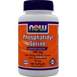 NOW Phosphatidyl Serine (100mg) w/ Ginkgo Biloba Extract 100 sgels