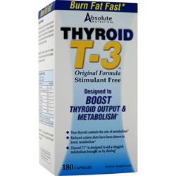 Absolute Nutrition Thyrox T-3 180 caps