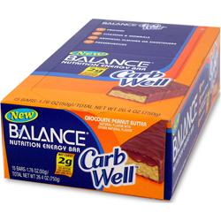 BALANCE BAR Balance Carb Well Bar Chocolate Peanut Butter 15 bars