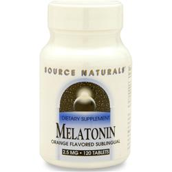 SOURCE NATURALS Melatonin  - Sublingual (2.5mg) Orange 120 tabs