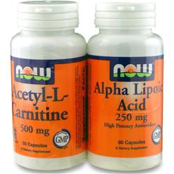 NOW Acetyl-L-Carnitine &  Alpha Lipoic Acid TwinPack 110 caps