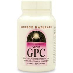 SOURCE NATURALS Alpha GPC (GlycerylPhosphorylCholine) 30 caps