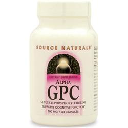 Source Naturals Alpha GPC (GlycerylPhosphorylCholine) 30 caps