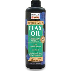 HEALTH FROM THE SUN Organic Flax Oil - Liquid Gold 16 fl.oz