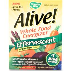 NATURE'S WAY Alive Multivitamin - Effervescent Powder Lemon-Lime 15 pckts