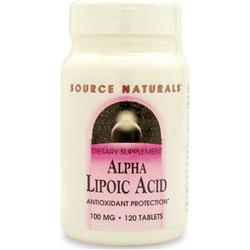 SOURCE NATURALS Alpha Lipoic Acid (100mg) 120 tabs