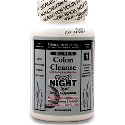 Health Plus Super Colon Cleanse Night 90 caps