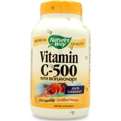 NATURE'S WAY Vitamin C-500 w/ Bioflavonoids 250 caps
