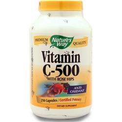 Nature's Way Vitamin C-500 with Rose Hips 250 caps