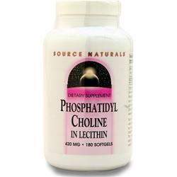SOURCE NATURALS Phosphatidyl Choline 180 sgels