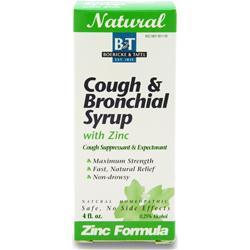 BOERICKE AND TAFEL Cough & Bronchial Syrup w/ Zinc 4 fl.oz