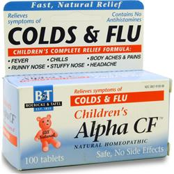 BOERICKE AND TAFEL Children's Alpha CF (Colds & Flu) 100 tabs