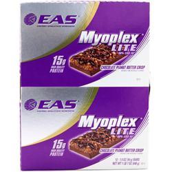 EAS Myoplex Lite Bar Choc. Peanut Butter Crisp 12 bars