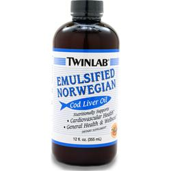 TWINLAB Emulsified Norwegian Cod Liver Oil (liquid) Orange 12 fl.oz