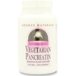 Source Naturals Vegetarian Pancreatin 120 caps