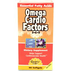 COUNTRY LIFE Omega Cardio Factors 3-6-9 90 sgels