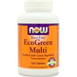 NOW EcoGreen Multi - Iron Free 120 tabs