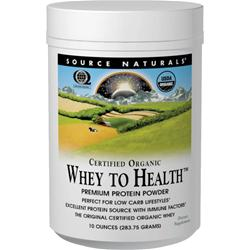 SOURCE NATURALS Whey to Health 10 oz