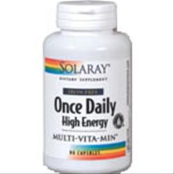 Solaray Once Daily High Energy Multi-Vita-Min Iron Free 90 caps