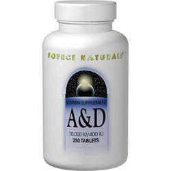 Source Naturals A & D (10000IU/400IU) 250 tabs