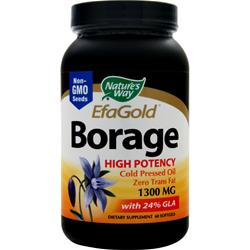 NATURE'S WAY EFA Gold Borage Oil (1300mg) Cold Pressed 60 sgels