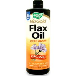 NATURE'S WAY EFA Gold Flax Oil - Super Lignan (Organic) 24 fl.oz